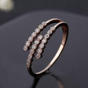 NEW ROSE GOLD DIAMOND HONEYCOMB ADJUSTABLE RING